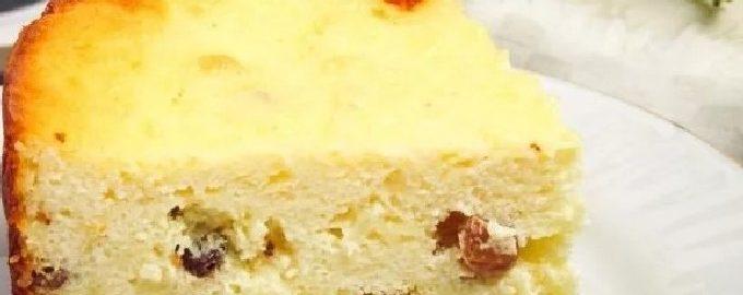 Bujna zapiekanka z twarogu z kaszą manną w piekarniku