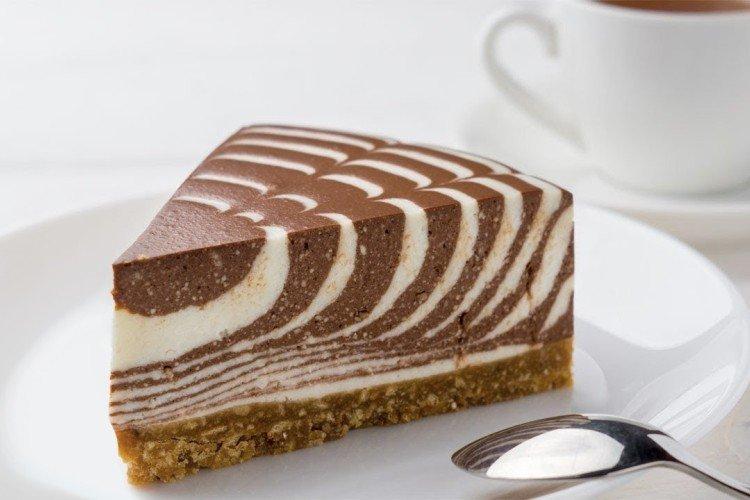 Klasyczne ciasto zebry na twarogu - przepisy kulinarne