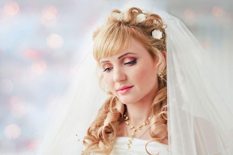 Księżniczka Fryzura z Grzywką - Ślubne Fryzury dla Długich Włosów
