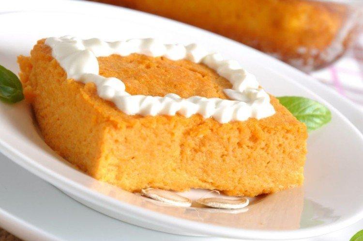 """Zapiekanka z twarogiem """"Jesień"""" w powolnej kuchence - przepisy kulinarne"""