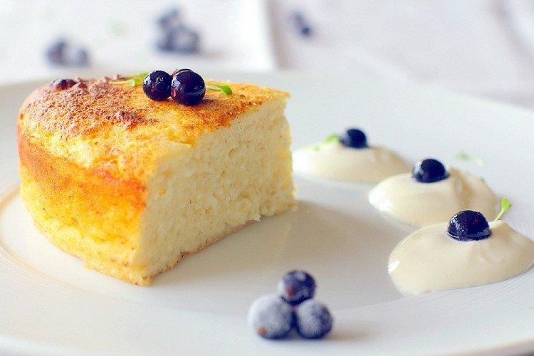 """Pudding """"Twaróg"""" - Zapiekanka z twarogu w przepisach na powolną kuchenkę"""