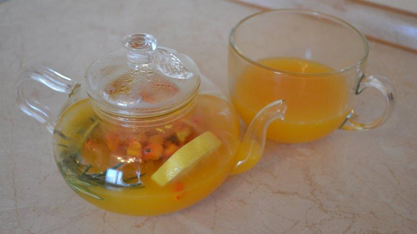 Herbata z rokitnika z cytryną